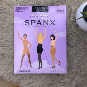 •SPANX• Black High Waist All the Way Up Pantyhose